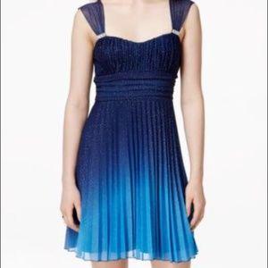 Speechless Glitterd Ombre Belted Dress S